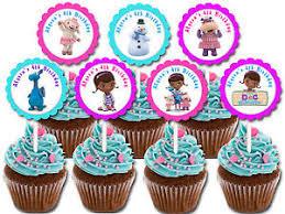 doc mcstuffins cupcake toppers 30 ct doc mcstuffins personalizada cupcake toppers cumpleaños