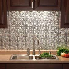 Home Depot Backsplash For Kitchen brushed aluminum countertops u0026 backsplashes kitchen the home