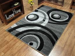 Black Circle Rug Vibe Circle Rug Grey Black