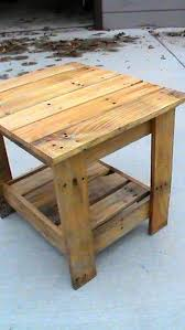 tables made out of pallets end table made from pallets knextreme on instructables he suggests