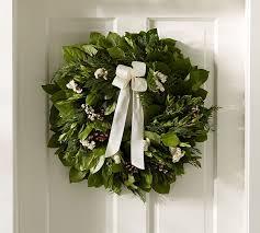 fresh wreaths live fresh winter collection wreath pottery barn