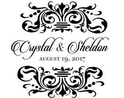 Wedding Gobo Templates Custom Bride And Groom Wedding Logo Name Design For Signs Or