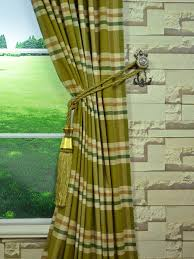 Cotton Tie Top Curtains by Qyb545f06g03 Paroo Cotton Blend Large Plaid Concaeled Tab Top