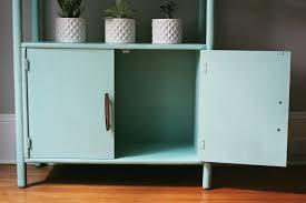 Annie Sloan Painted Bookcase Modern Retro Style Mint Green Bookcase U2014 A Simpler Design A Hub