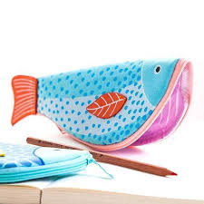 pencil bag unique koi fish shaped animal themed pencil makeup bag dotoly