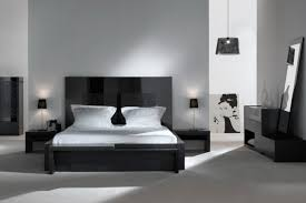 Bedroom Ideas With Gray Headboard Black And White Bedrooms With A Splash Of Color Blue Curtain Black