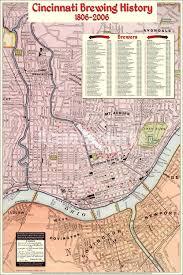 Map Cincinnati Cincinnati Brewing History Map Poster Cincinnati Brewing History