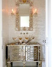 Mirror Bathroom Tiles Mirrored Bathroom Vanity Cottage Bathroom House Beautiful