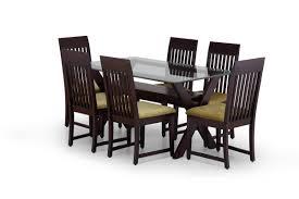 buy modernist dining table set online wooden glass dining set for