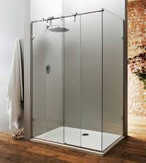 glass bath shower doors a bespoke frameless sliding shower door with fixed side panel made
