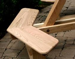 Free Wood Picnic Bench Plans by Red Cedar Octagon Walk In Picnic Table