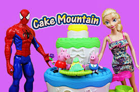 play doh cake mountain treats for frozen princess peppa pig
