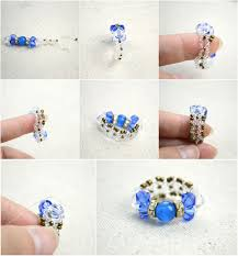 make mothers rings images Diy bow rings for mothers day out of seed beads and glass beads jpg