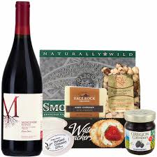 Oregon Gift Baskets Expressions Red Wine U0026 Cheese Gift Basket Made In