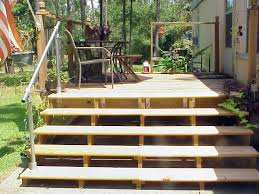 a simple handrail for stairs on porch or deck simplified building