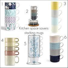 Kitchen Space Savers by Kitchen Space Savers Affordable Ceramic Stacking Mug Sets Fresh