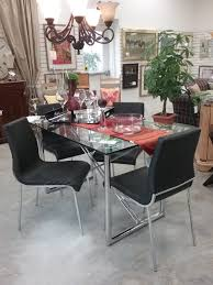 stores kitchener the millionaire s daughter table and chairs korson tempered glass and chrome