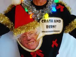 bernie ugly christmas sweater contest winner political