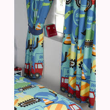boys bedroom curtains construction time trucks diggers curtains kids boys curtains in 54