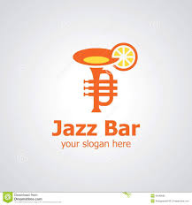 cocktail logo jazz bar vector logo design stock vector image 46089083
