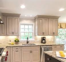 gray kitchen cabinets with white crown molding color ideas for crown molding my ideal home