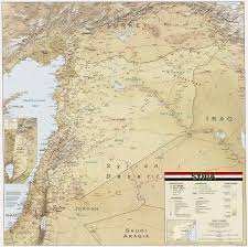 syria on map geography of syria