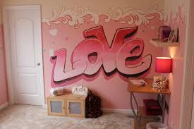 nice mural bedroom wall painting ideas with light pink based color