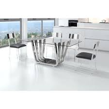 Zuo Floor L Zuo Fan Chrome Dining Table 100325 The Home Depot