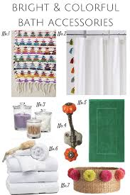 Chevron Bathroom Decor by Bright U0026 Colorful Bath Accessories Effortless Style Blog Colorful