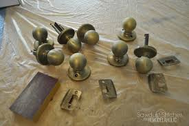 How To Spray Paint Doors - remodelaholic how to upgrade door knobs with spray paint the