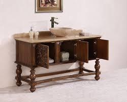 Legion Bathroom Vanity by Antique Legion 59 Inch Bathroom Vanity Travertine Top Vessel Sink