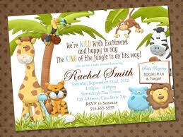 charming jungle baby shower invitations free 43 for thank you