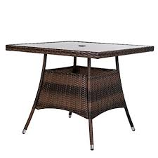 36 Patio Table Luckup 36 X 36 Patio Outdoor Wicker Rattan Dining