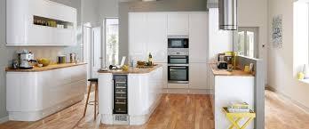 White Gloss Kitchen Ideas Howdens Gloss White Integrated Handle Kitchens Pinterest