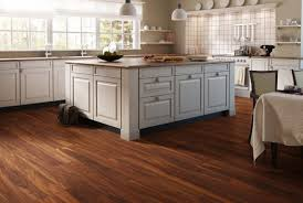 White Laminate Flooring Decor Walnut Laminate Flooring With White Cabinets And Pendant