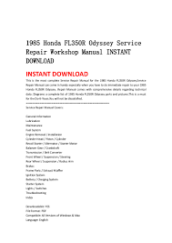 1985 honda fl350 r odyssey service repair workshop manual instant dow u2026