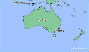 where is on the map where is sydney australia where is sydney australia located