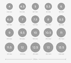 ring size find your ring size ring size chart and conversions shiree odiz