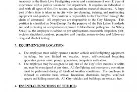 Sample Resume For Firefighter Position by Firefighter Job Description For Resume Reentrycorps