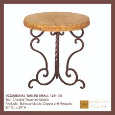 Small Round Tables by 080 Occasional Table Small Bullnose Travertine Marble Top Mod