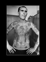 photographs of magnificent tattoos on russian criminals by sergei