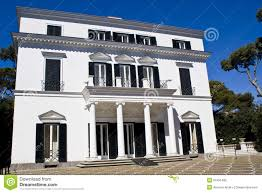 facade of a neoclassical villa stock photo image 52451489