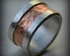 manly wedding bands mens wedding band rustic oxidized silver and sterling