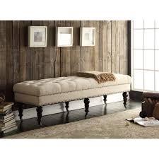 amazon com linon isabelle bed bench 62 inch dark espresso