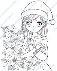 poinsettia coloring pages christmas digital stamp poinsettia and coloring page