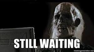 Skeleton Computer Meme - skeleton computer meme 28 images still waiting meme skeleton