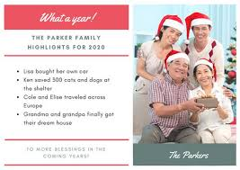 year in review christmas card green photo year in review christmas card templates by canva