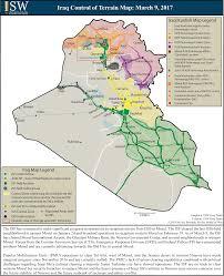 Map Iraq Isw Blog Iraq Control Of Terrain Map March 9 2017