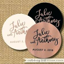 wedding favor labels labels for wedding favors copper and black wedding sticker black