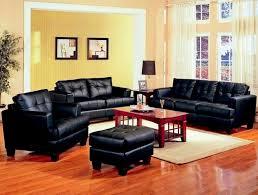 black leather sofa set center divinity